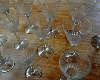 14 cut Crystal glasses for wine, port and get-togethers