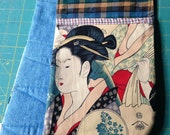 Dual Oven Mitt: Geishas and Plaid