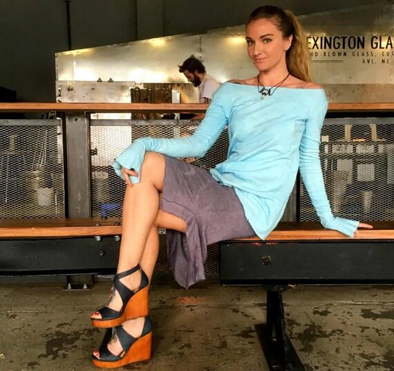 Hemp skirt custom made and hand dyed // organic clothing // eco-friendly // hemp clothing // pencil skirt