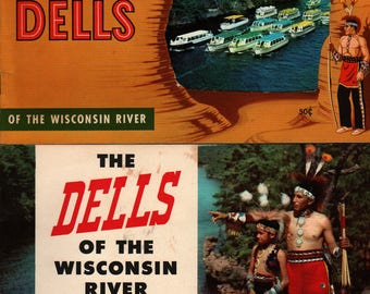 Wisconsin Dells Tourist Booklets (Set of 2) - 1954 - Vintage Tour Guide