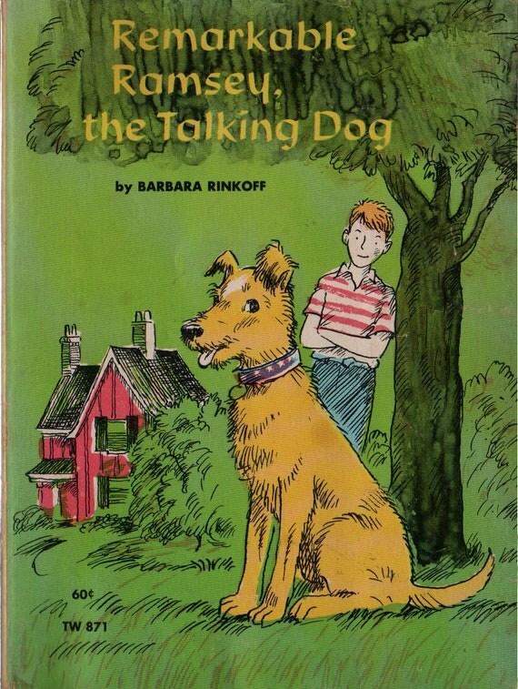 Remarkable Ramsey, the Talking Dog - Barbara Rinkoff - Leonard Shortall - 1970 - Vintage Kids Book