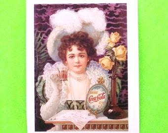 Coca Cola Victorian Delight Pinup Girl Coke Vintage Advertising Style Vinyl Sticker