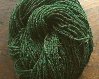 Wool-Camel Blend Hand-plied 6 ply Sporty DK Tweed - Tree of Life - 3.1 oz - 87.8 g - 176 yds - 160.9 m