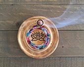 Lotus Incense Holder with Glass Mosaic