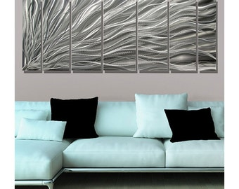 Large Multi Panel Modern Metal Wall Art, Contemporary Wall Sculpture, Abstract Home & Office Decor - Complex Energy by Jon Allen