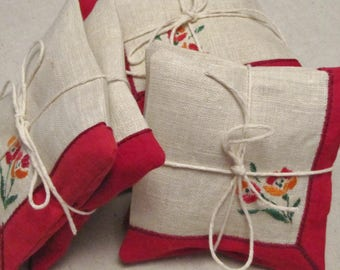 Sachets, Lavender,  Vintage Fabric,