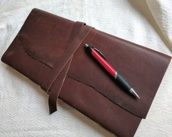 Handbound Leather Journal - Oversized and extra tall