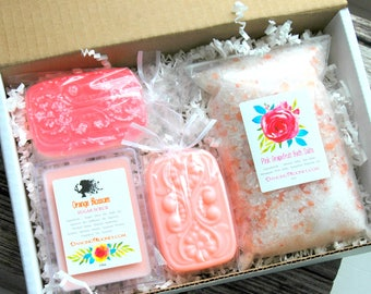 Bridesmaid Gift Set . Best Friend Birthday Gift . Grapefruit Orange Blossom . Spa Gift Set . Bridesmaid Box Set . Gift for Mom Spa Gift Set