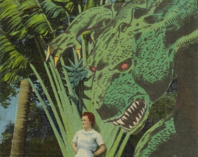 Kitsch Horror Monster Art, Comic Collage Artwork