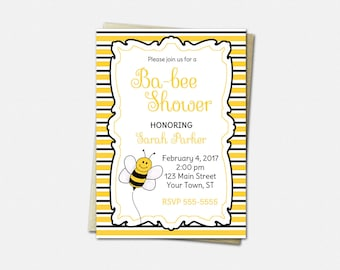 Baby Shower Invitations, Bumblebee Invitations, Bee Baby Shower Invitations, Boy or Girl, Baby Shower Invitations, Baby Shower Invitation