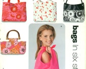 New Look 6391 Bags Handbags Totes 6 Styles English & Spanish Espanol Instructions ©2004