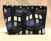 Doctor Who Tardis Oilcloth Snappy Pouch - 5 Sizes