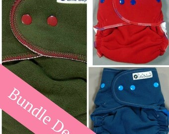 Surprise-Me Bundle of 3 Wind Pro Covers for Cloth Diapers - Pack of Three Made to Order Windpro Nappy Wraps - Save Money - Discounted Set