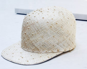 Sisal Straw Cap. Adjustable Cap. Fun Spring Fashion. Sisal Unisex Cap SS16