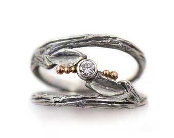Handmade Sterling Silver Diamond Engagement Ring- Infinitely Yours