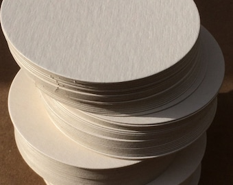 100 blank round coasters 4 inch diameter, 100% recycled
