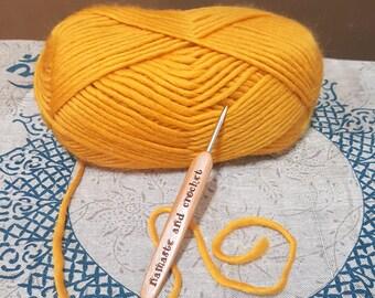 Lace Crochet Hooks set of 12 | Engraved Namaste and Crochet | Bamboo Crochet Hook | Miniatures | Fiber Art Supply | Gift for Moms