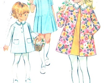 Wedding Flowergirl dress coats spring summer vintage sewing pattern McCalls 2273 Size 3 UNCUT
