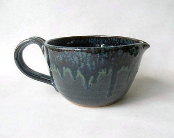 Batter Bowl, Bowl with Spout and Handle, Ceramic Battery Bowl,
