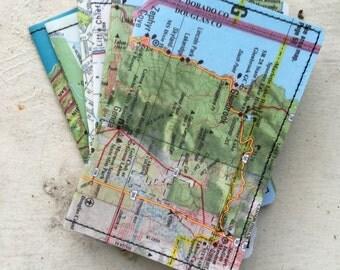 Slim Wallet- Vintage Northern California, Napa Map- choose 1
