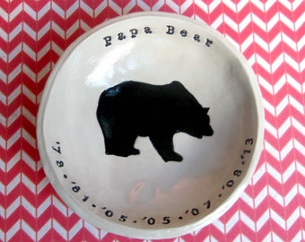 Papa Bear: Dad Gifts, Birthday, Father's Day, Personalized Bowl