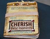 travel journal, SALE, handmade journal, vintage journal, smashbook, pocket diary,  mini art journal ,  travel notebook ,mixed media journal
