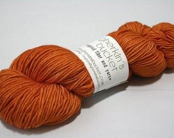Hand Dyed Artisan Yarn, Tonal Kettle Dyed DK Yarn, Semisolid SW Merino Wool DK, Glad Hand #22217