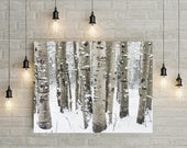 Custom Order For Tia - Birch Forest Print mounted on 3/4 inch foam board - Free Shipping