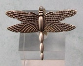Dragonfly Pendant, Upturned Wings, Antique Silver 2 Pc. AS368