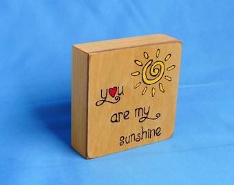 You Are My Sunshine - Woodburned Art Panel