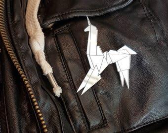 Mirror Acrylic Blade Runner Unicorn Brooch,Blade Runner,Origami Jewellery,Unicorn Brooch,Unicorn Jewellery,Bladerunner,Unicorn Gift,Unicorn