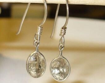 Diaspore Earrings in Solid Sterling Silver - Genuine Natural Gemstone on Wires