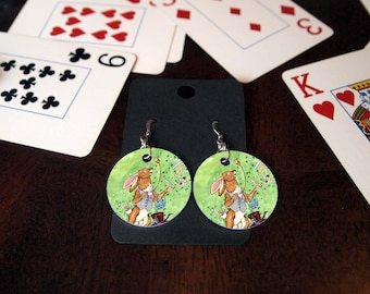 The March Hare Alice in Wonderland Earrings