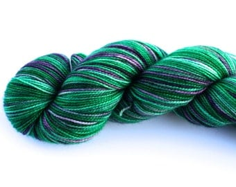 Juneau--hand dyed sock weight yarn, 2 ply merino, cashmere, nylon (400yds/100gm)