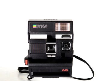 Polaroid 640 Instant Film Camera; Tested, Working
