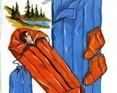 Kwik Sew 100 Sleeping Mummy Bags Stuff Sack Duffle Sox Boot Slipper DYI Camping Gear Uncut Vintage Sewing Pattern