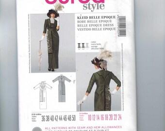 Misses Sewing Pattern Burda 7029 Belle Epoque Dress Historical Costume Downton Abbey Edwardian Titanic Size 10 12 14 16 18 20 22 24 UNCUT