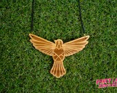 Peaceful Dove bamboo necklace - profits go to the Asylum Seeker Resource Centre