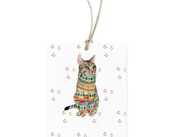Tabby Cat Gift Tags