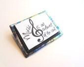 Musician music G clef pin brooch