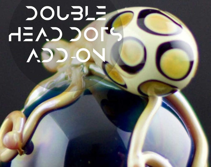 Double Layer Head Dot Add-on / Double Head Dot Upgrade / Glass Tobacco Pipe Add-on / Custom Glass / You Choose the Color / Made to Order