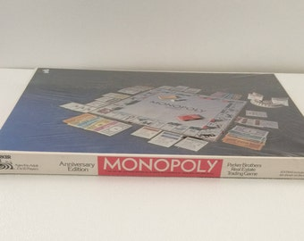 Vintage 1975 Monopoly Game in Factory Seal