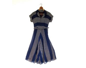 1940s Vintage Dress | For Keeps | 1940s Dress | XXS XS