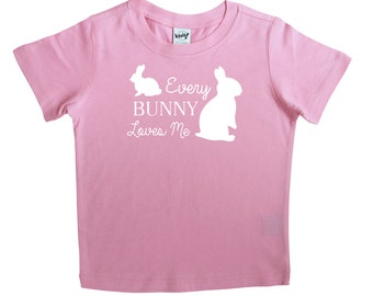 Easter Graphic Baby Short Sleeve T-shirt- Every Bunny Loves Me