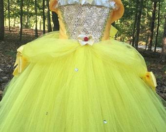 Deluxe Belle Tutu Dress - Belle Costume - Belle Dress - Beauty and the Beast Dress