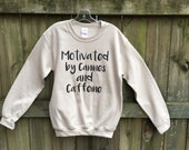 Funny sweatshirts, Dog shirt, white shirt basic, dogs and coffee, dog lover gift, motivate, cozy slouchy pullover, girlfriend gift, pet mom