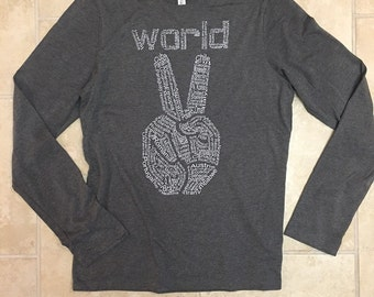 Women's T-Shirt, Peace Sign, peace shirt, world peace tee, Teenage Girl T-Shirt, Birthday Gift, Womens Clothing, Women's Tee, Graphic Tee