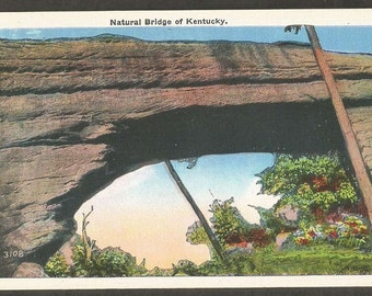 Kentucky Vintage Linen Postcard - Natural Bridge State Park (Unused)