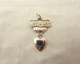 Vintage Silverplated Heart Charm