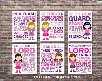 Girls Superhero Scripture Art, Girls Scripture Art,Set, INSTANT DOWNLOAD, YOU Print, Girls Superhero Scripture Art, Girls Superhero Decor